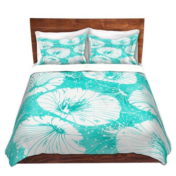 Turquoise Flowers Duvet Cover Set