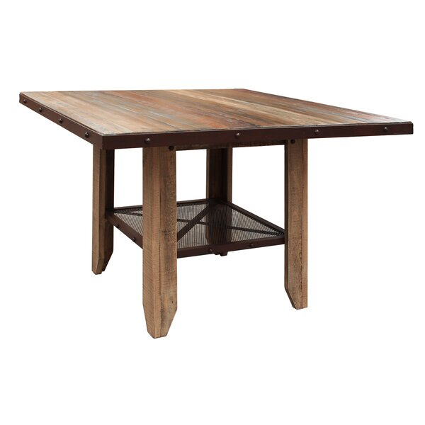 Stoke Bishop Wood Solid Wood Dining Table by Millwood Pines Millwood Pines