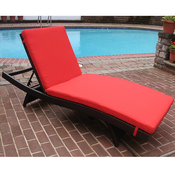 Siesta Chaise Lounge with Cushion (Set of 2) by Wicker Warehouse