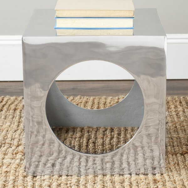 Tellurium Cube Stool by Safavieh