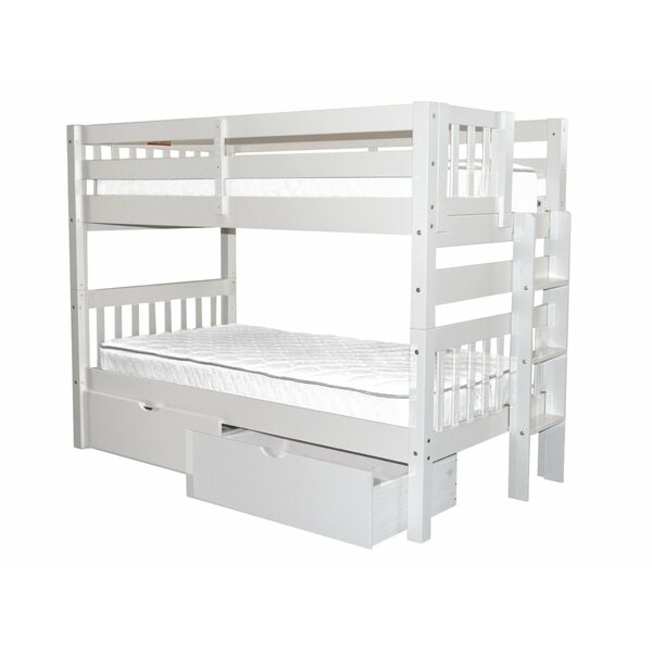 Treva Twin over Twin Bunk Bed with Drawers by Harriet Bee