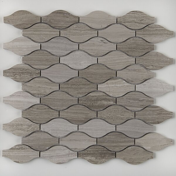 Oxford 13.375 x 13.75 Limestone Mosaic Tile in Chenille White by Itona Tile