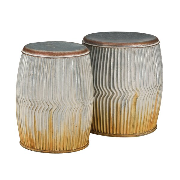 Galvanized Ridges 2 Garden Stool Set by Regal Art & Gift