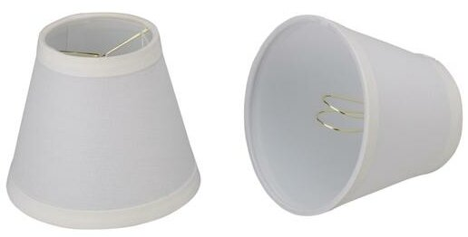 5 H Linen Empire Lamp Shade ( Clip On ) in Off-White (Set of 2)