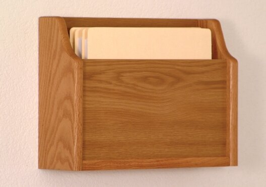 Extra Deep Single Pocket Chart Holder by Wooden Mallet