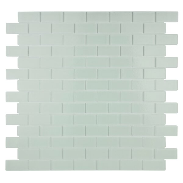 Quartz 0.75 x 1.63 Glass Mosaic Tile in White by Kellani
