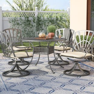 Frontenac 5 Piece Dining Set with Cushions ByAstoria Grand