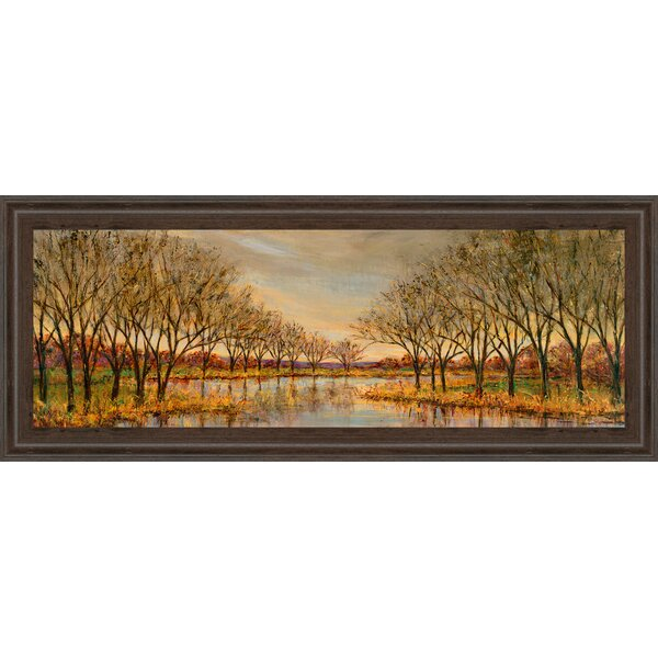 Twilight on the River by Carson Framed Graphic Art by Classy Art Wholesalers