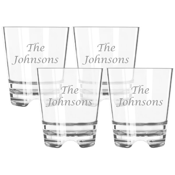 Personalized Tritan Double 12 oz. Old Fashioned Glass (Set of 4) by Carved Solutions