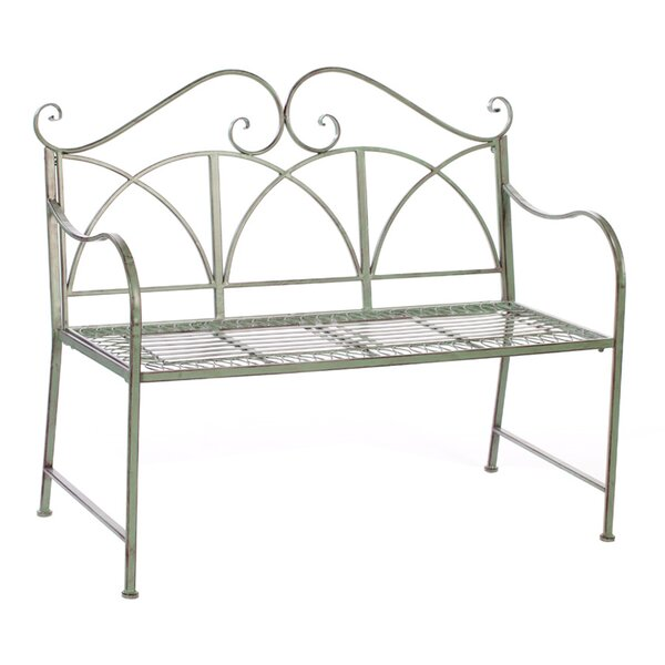 Metal Garden Bench by Melrose International