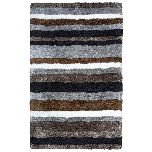 Doylestown Hand-Tufted Brown/Gray Area Rug by Ebern Designs