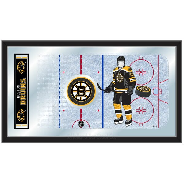NHL Hockey Rink Mirror Framed Graphic Art by Holla