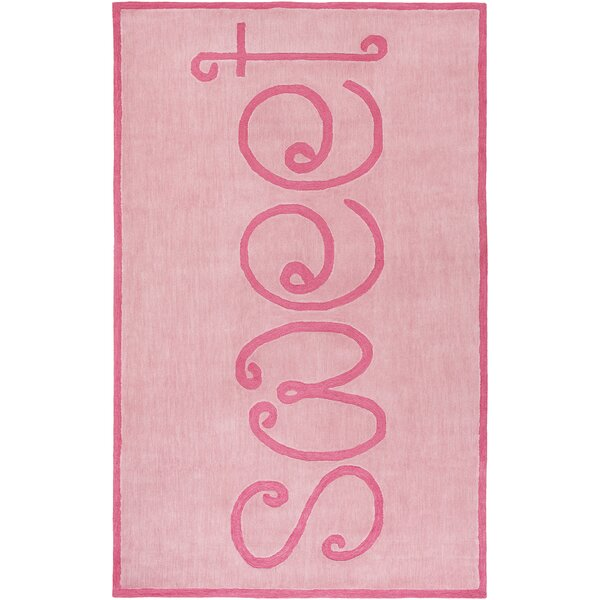 Cesar Hand-Tufted Coral/Bright Pink Area Rug by Zoomie Kids