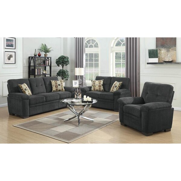 Best #1 Robbe 3 Piece Living Room Set By Latitude Run New