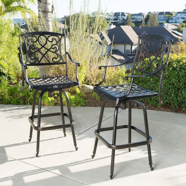 Molino 48.2 Patio Bar Stool (Set of 2) by Darby Home Co