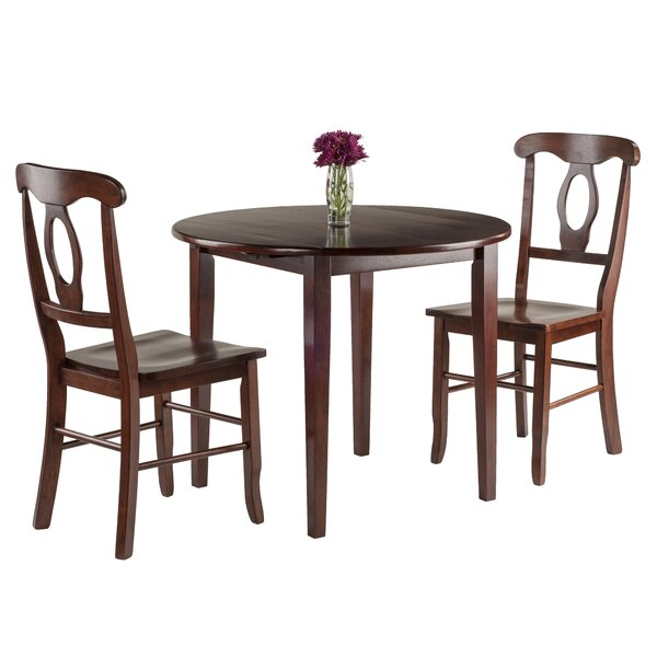 Kendall 3 Piece Drop Leaf Dining Set by Alcott Hill
