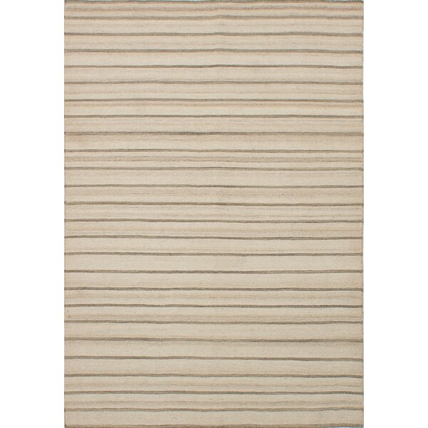 Rollins Hand-Woven Cream Area Rug by Union Rustic