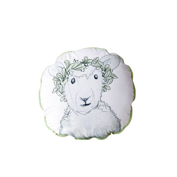 Hengrove Sheep Cotton Throw Pillow by Harriet Bee