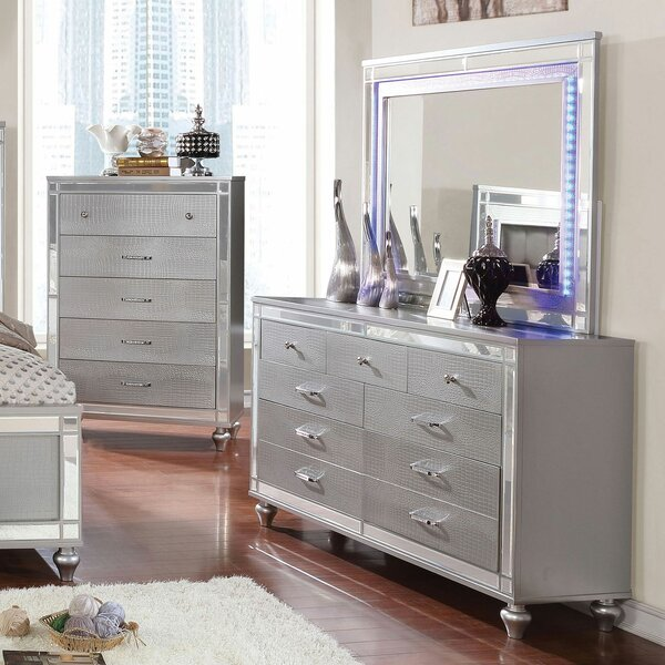 Rothwell 9 Drawer Chest with Mirror by Everly Quinn