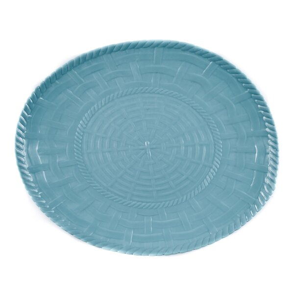 Woven Melamine Oval Platter by Encore Concepts