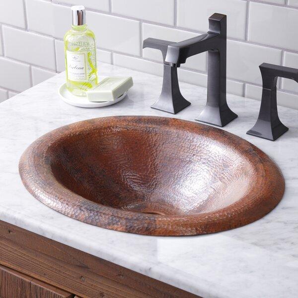 Maestro Metal Oval Drop-In Bathroom Sink by Native Trails, Inc.