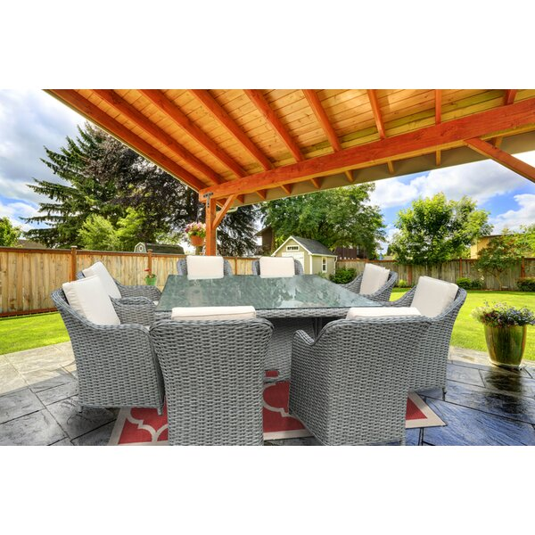 Dutil 9 Piece Dining Set with Cushions by Brayden Studio