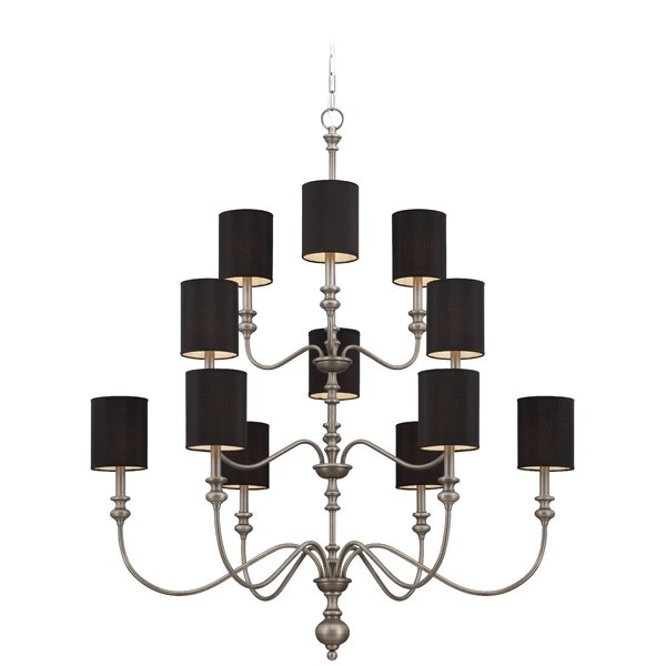 Baney 12 - Light Shaded Classic / Traditional Chandelier by Darby Home Co Darby Home Co