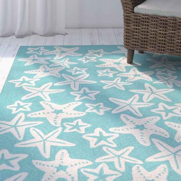 Claycomb Hand-Tufted Aqua Indoor/Outdoor Area Rug by Highland Dunes