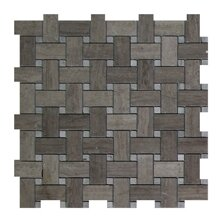 Milano Basket Weave 1 x 2 Marble Mosaic Tile in Gray by Seven Seas