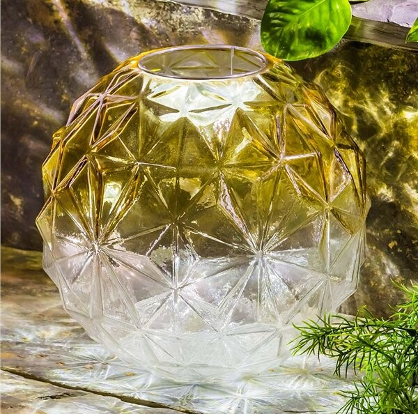 Glowing Glass Gazing Globe by Plow & Hearth