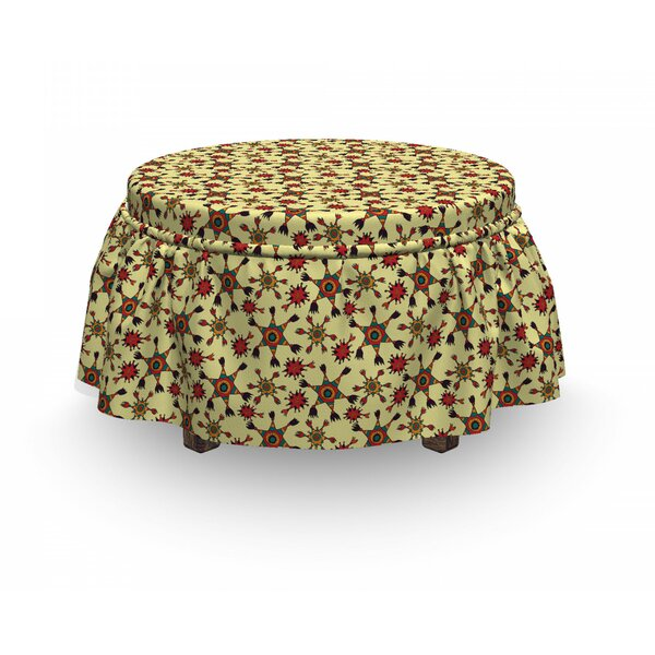 Doodle Latin Stars Ottoman Slipcover (Set Of 2) By East Urban Home