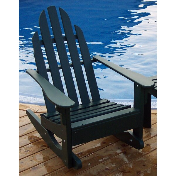 Wood Rocking Adirondack Chair by Prairie Leisure Design