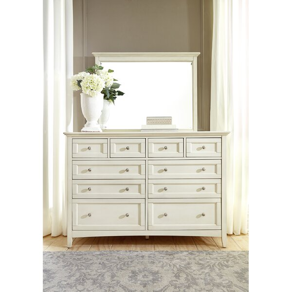 Burris 10 Drawer Dresser With Mirror By Alcott Hill by Alcott Hill Best #1
