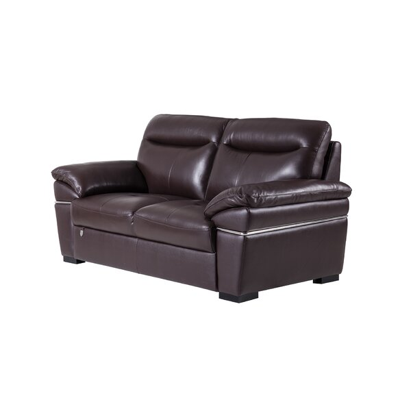 Victor Harbor Leather Loveseat by Latitude Run