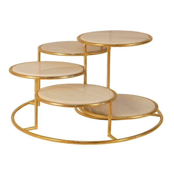Freeland 5 Tier Metal Coffee Table by Everly Quinn