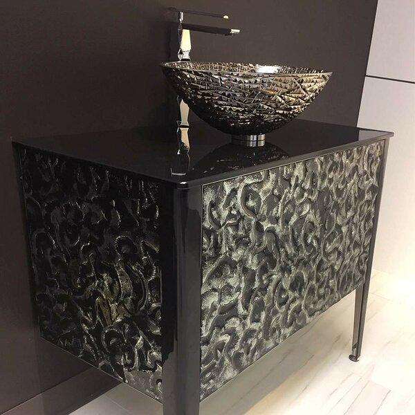 Calloway Glass 35.5 Bathroom Vanity by Orren Ellis