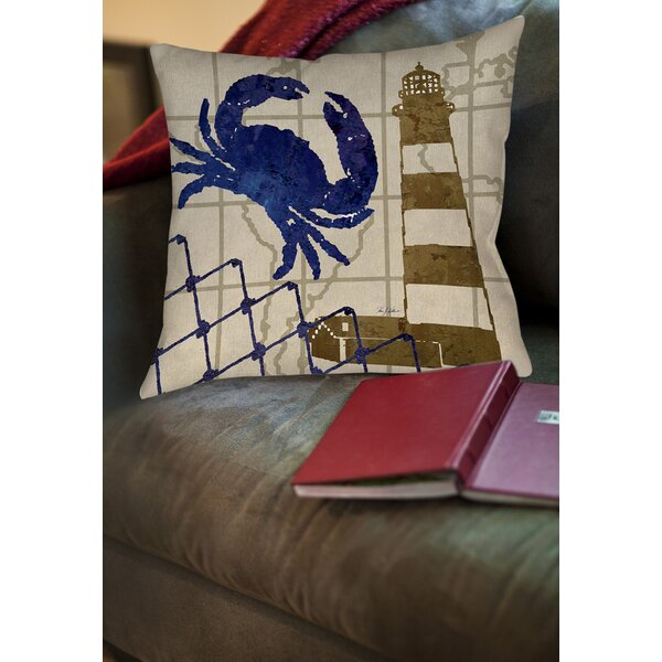 Vineyard Printed Throw Pillow by Breakwater Bay