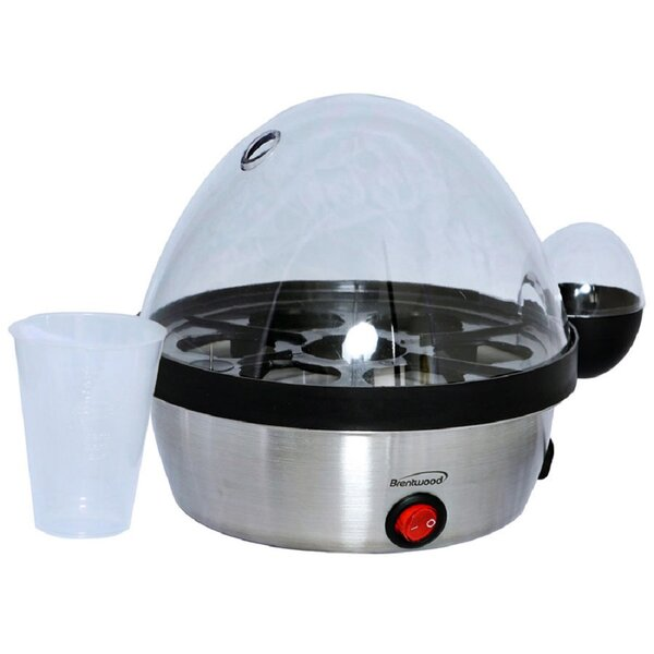 Electric Stainless 7 Cups Egg Cooker by Brentwood Appliances