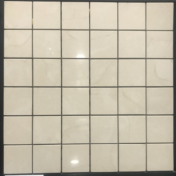 Millenium 2 x 2 Porcelain Mosaic Tile in Off Cream by Kertiles
