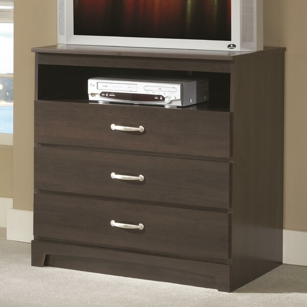 Audette 3 Drawer Media Chest by Alcott Hill