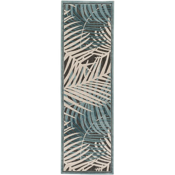 Caravel Ivory Teal/Aqua Indoor/Outdoor Area Rug by Bay Isle Home