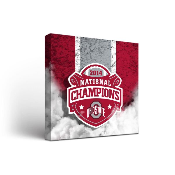 NCAA Ohio State University Buckeyes Vintage Framed Graphic Artt on Wrapped Canvas by Victory Tailgate