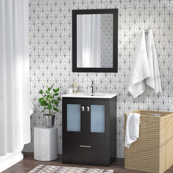 Lapoint Modern 24 Single Bathroom Vanity Set with Mirror by Latitude RunLapoint Modern 24 Single Bathroom Vanity Set with Mirror by Latitude Run