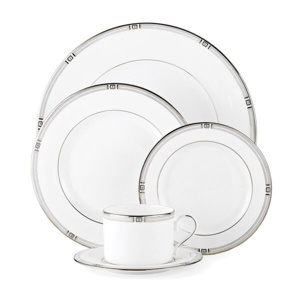 Westerly Platinum Bone China 5 Piece Place Setting, Service for 1 by Lenox