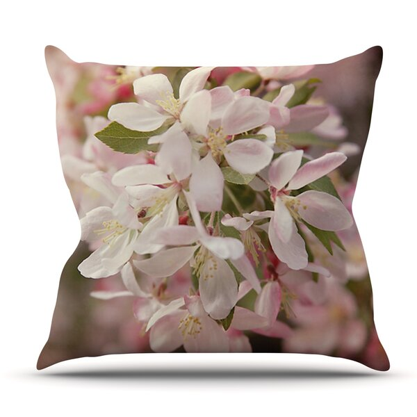 Apple Blossoms by Angie Turner Outdoor Throw Pillow by East Urban Home