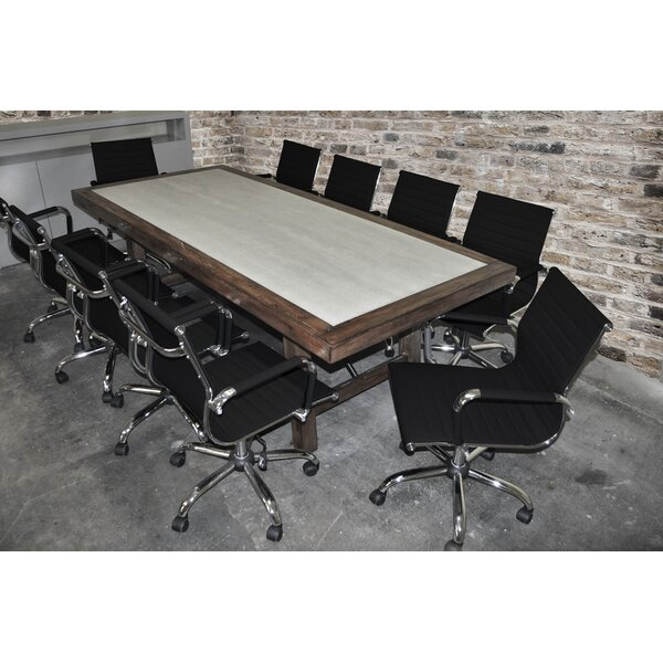 Quijada Rectangular 30H x 42W x 92L Conference Table Set by Brayden Studio
