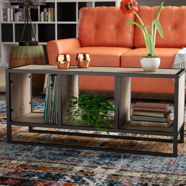 Hollie Coffee Table with Storage Shelf by Williston Forge