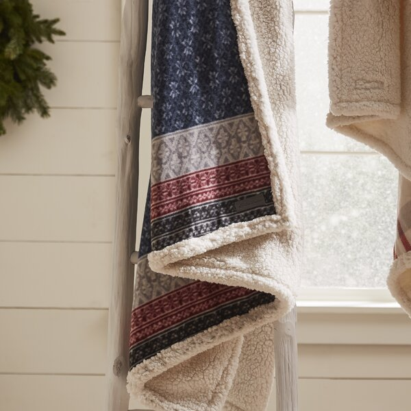 Fairisle Indiana Fleece Throw Blanket by Eddie Bauer