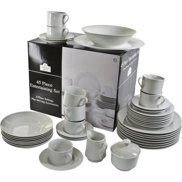 Reef 45 Piece Dinnerware Set, Service for 8 by Ten Strawberry Street