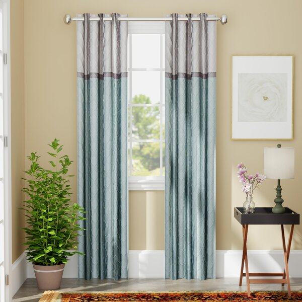 Rothsville Geometric Blackout Grommet Single Curtain Panel by Andover Mills